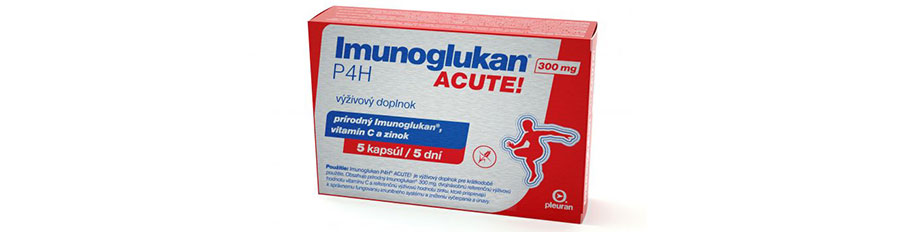 O našich produktoch: Imunoglukan P4H<sup>®</sup> ACUTE!